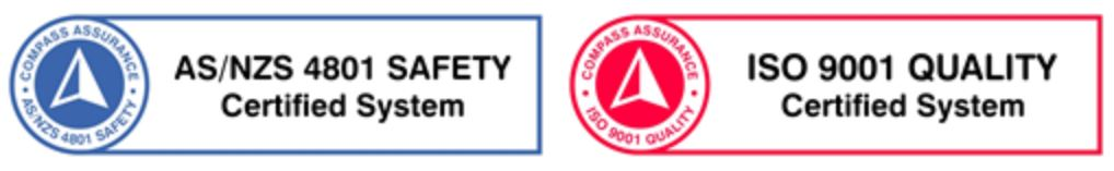 ISO 9001, AS4801 Certification Logos